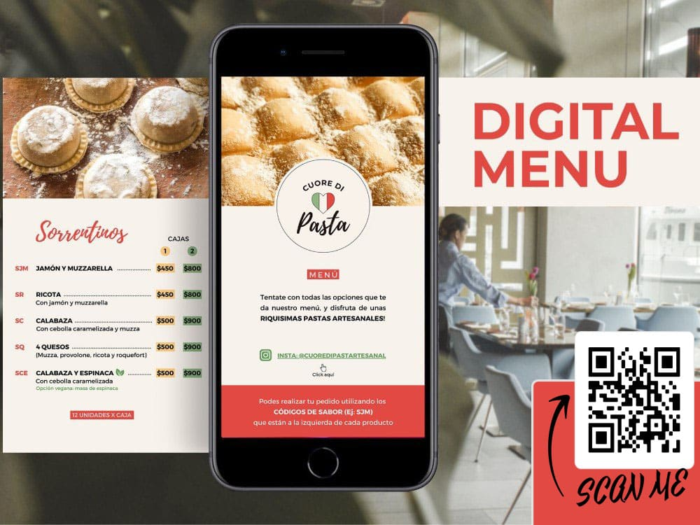 ψηφιακος καταλογος για καφε εστιατορια